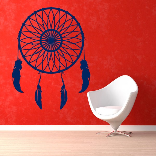 Dream Catcher Sticker Blue Vinyl Wall Art