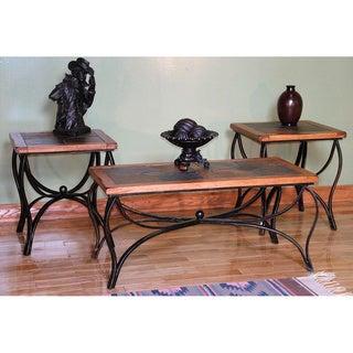 Sunny Designs Sedona Oak 3-piece Coffee and End Table Set