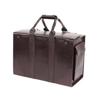 Bond Street Burgundy Leather Executive Briefcase