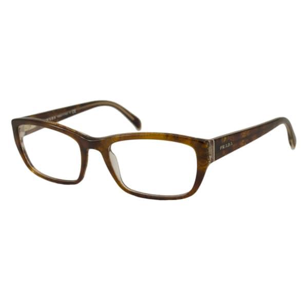Prada Reading Glasses Frame : Prada Womens PR18OV Rectangular Reading Glasses ...