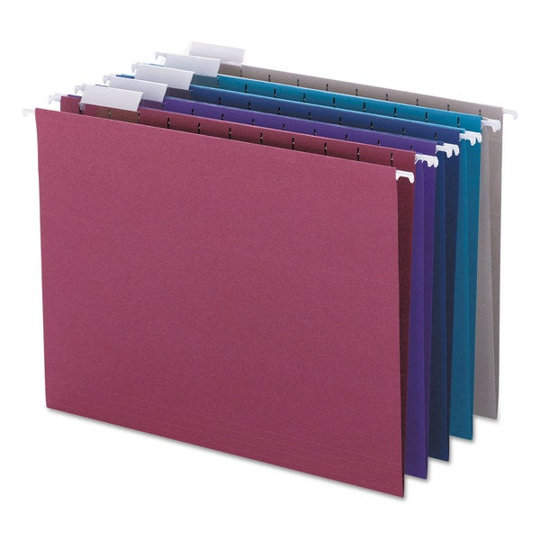 Smead Designer 1/5 Tab Assortment Hanging Folders (Pack of 25)