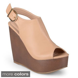 Journee Collection Women's 'Kalina' Sling-back Platform Wedges