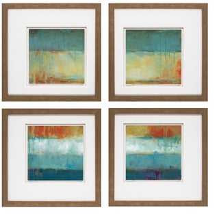 Wani Pasion- Color Block 20 x 20 Set of 4 Framed Art Print