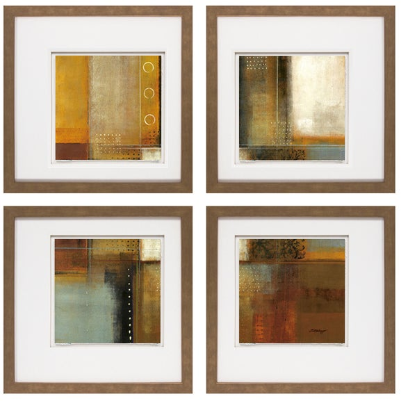 Joel Holsinger- Metroglyph I 20 x 20 Set of 4 Framed Art Print