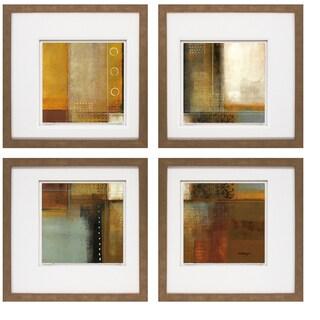 Joel Holsinger- Metroglyph I 20 x 20 Set of 4 Framed Art Print