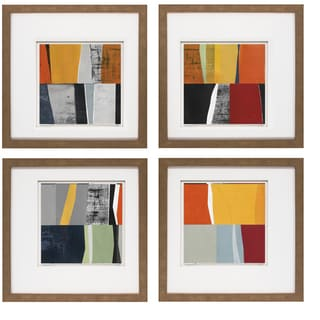 David Bailey-Instance I 20 x 20 Set of 4 Framed Art Print