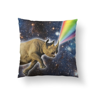 Rhinocorn Square Polyester Throw Pillow