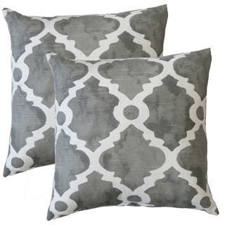 Premiere Home Madrid Summerland Grey 17-inch Throw Pillow - Set of 2
