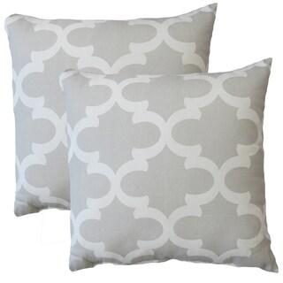 Premiere Home Fynn Frech Grey 17-inch Throw Pillow - Set of 2