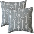 Premiere Home Arrow Cool Grey 17-inch Throw Pillow - Set of 2