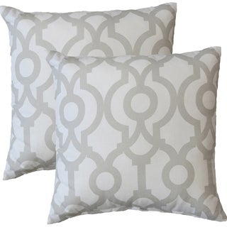 Premiere Home Lyon French Grey 17-inch Throw Pillow - Set of 2