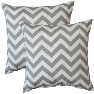 Premiere Home Chevron Storm 17-inch Throw Pillow - Set of 2