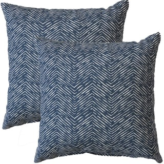 Premiere Home Cameron Premier Navy 17-inch Throw Pillow - Set of 2