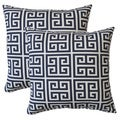 Premiere Home Towers Blue Greek Key 17-inch Throw Pillow - Set of 2