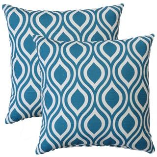 Premiere Home Nicole Aquarius 17-inch Throw Pillow - Set of 2