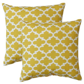 Premiere Home Fulton Corn Yellow 17-inch Throw Pillow - Set of 2