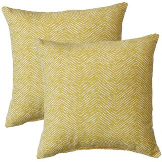 Premiere Home Cameron Shaffron Yellow 17-inch Throw Pillow - Set of 2