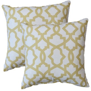 Premiere Home Sheffield Saffron Yellow 17-inch Throw Pillow - Set of 2