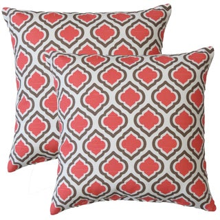 Premiere Home Curtis Medallion 17-inch Throw Pillow - Set of 2