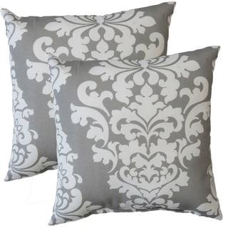 Premiere Home Indoor/Outdoor Berlin Gray 17-inch Throw Pillow - Set of 2