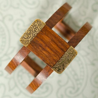 Rectangle Earth and Fire Cuff (India)