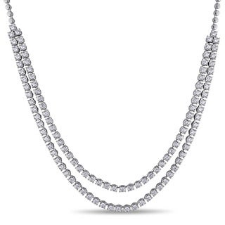 Miadora 18k White Gold 3 3/4ct TDW Diamond Necklace (G-H, SI1-SI2)
