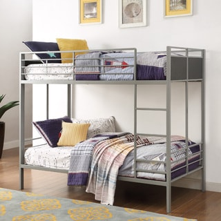 Jakob Contemporary Grey and Black Metal Twin-size Bunk Bed