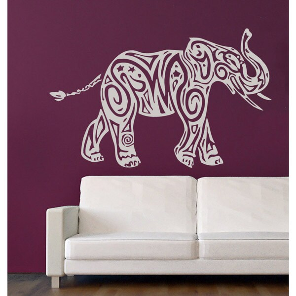 White Elephant Vinyl Wall Art