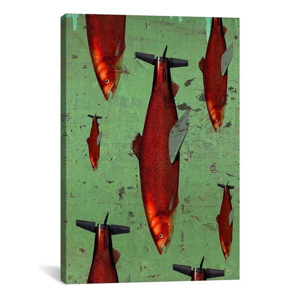 iCanvas Anthony Freda Fish Canvas Print Wall Art