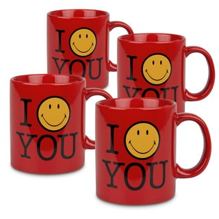 Weachtersbach 'I Smile You' Mugs (Set of 4)