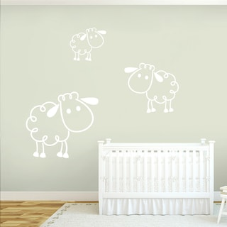 Sheep Wall Decals (Set of 3)