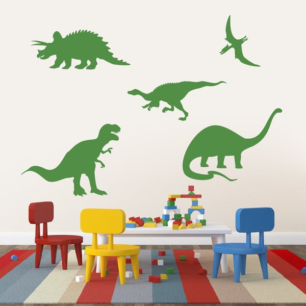 Large Set of Dinosaurs Wall Decals 15239128