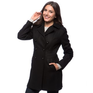 Kenneth Cole Women's Wool Melton Coat