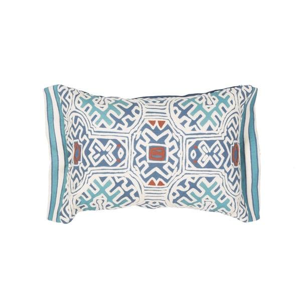 Handmade Tribal Blue/Multi 14-inch Throw Pillow