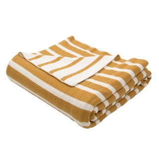 "Handmade Cotton Yellow (50""x60"") Throw"