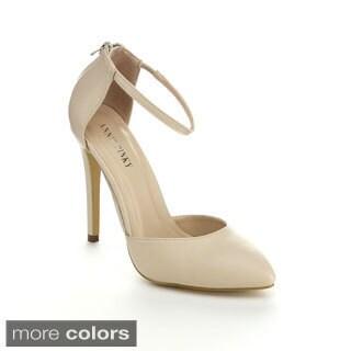 Annie Pinky KARA-01 Women's Closed Toe D'Orsay Ankle Strap Sandal Heels