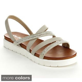 Via Pinky FALLON-02 Women's Open Toe Cushioned Strappy Low Platform Sandals
