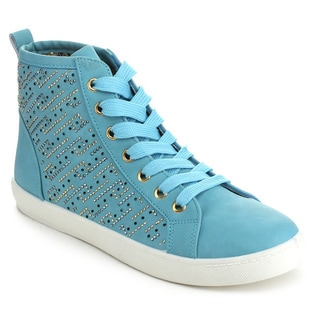 Via Pinky PERLA-01 Women's Sparkle Rhinestone Lace Up Ankle High Sneakers