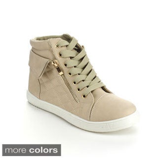 Via Pinky PERLA-03 Women's Quilted Lace Up Ankle High Sneakers