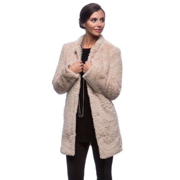 Kenneth Cole Women's Woobie/ Faux Fur Coat