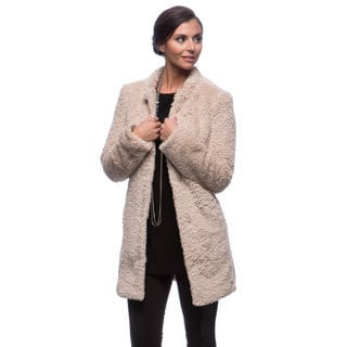 Kenneth Cole Women's Woobie/ Faux Fur Coat