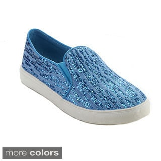 Reneeze OMA-03 Women's Slip-on Elastic Floral-Printed Sneakers