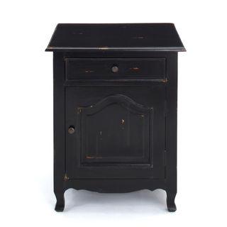 Decorative Imbler Casual Black Square Accent Table