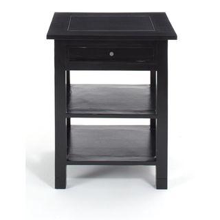 Decorative Kent Casual Black Square Accent Table