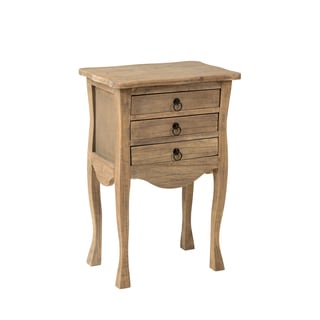 Decorative Lyons Casual Brown Square Accent Table