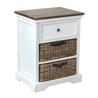 Decorative Paulina Casual White Square Accent Table
