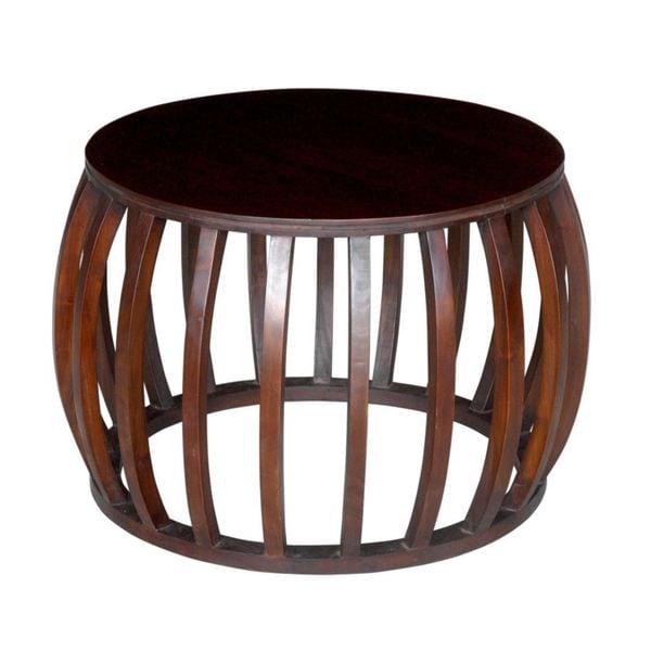 Safavieh Corey Antique Copper Coffee Table: Decorative Dawson Modern Brown Round Accent Table