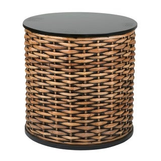 Decorative Hermiston Natural Brown Round Accent Table