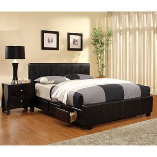 Furniture of America Larington 2-piece Modern Bed and Nightstand Set
