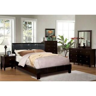 Furniture of America Villazo Espresso 4-piece Bedroom Set